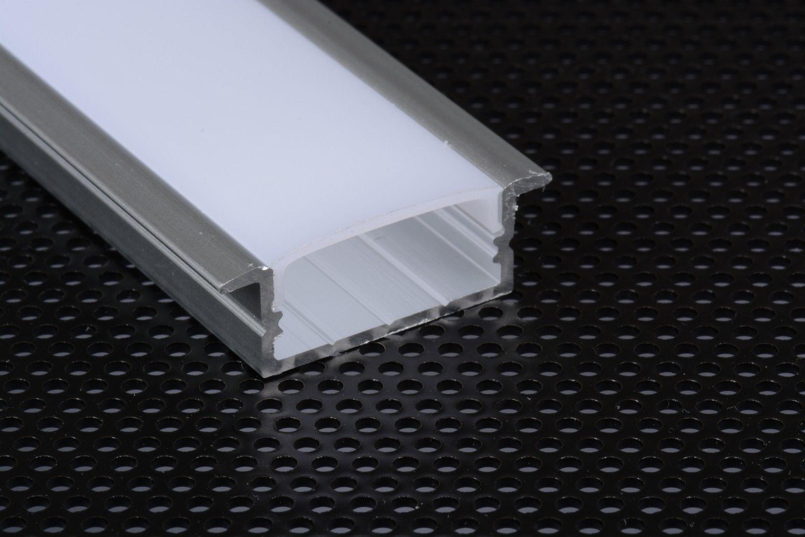 2m 2910 profilo incasso largo alluminio per strisce strip - Strisce led per bordo piscina ...